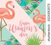 international woman's day... | Shutterstock .eps vector #1024392073