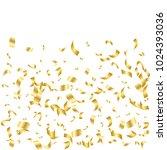 golden confetti. vector festive ... | Shutterstock .eps vector #1024393036