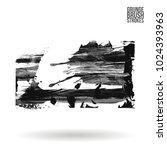 grey brush stroke and texture.... | Shutterstock .eps vector #1024393963