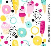 abstraction summer pattern with ... | Shutterstock .eps vector #1024394590