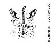 rock'n'roll picture with... | Shutterstock .eps vector #1024394800