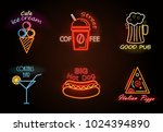 cafe ice cream and street... | Shutterstock .eps vector #1024394890