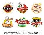 italian pizza restaurant... | Shutterstock .eps vector #1024395058