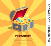 treasure poster with wooden... | Shutterstock .eps vector #1024395208