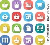 flat vector icon set   basket... | Shutterstock .eps vector #1024397608