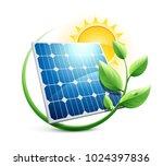 solar panel green energy icon | Shutterstock .eps vector #1024397836