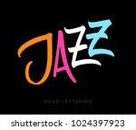 jazz. unique hand drawn...   Shutterstock .eps vector #1024397923