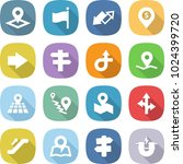 flat vector icon set   pointer... | Shutterstock .eps vector #1024399720
