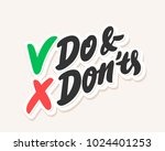 do and don'ts. vector lettering | Shutterstock .eps vector #1024401253