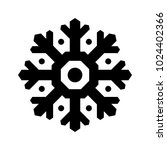 vector snowflake icon isolated... | Shutterstock .eps vector #1024402366
