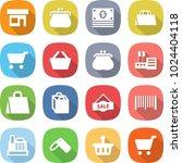 flat vector icon set   shop... | Shutterstock .eps vector #1024404118
