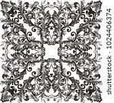 illustration with black... | Shutterstock .eps vector #1024406374