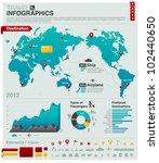 world map   travel info... | Shutterstock .eps vector #102440650