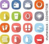 flat vector icon set   wallet... | Shutterstock .eps vector #1024407538