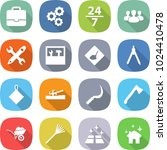 flat vector icon set  ... | Shutterstock .eps vector #1024410478