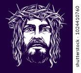 jesus christ  the son of god ... | Shutterstock .eps vector #1024410760
