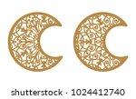 set of vector ornamental... | Shutterstock .eps vector #1024412740
