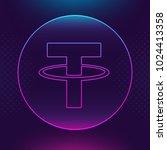 tether usdt vector outline icon.... | Shutterstock .eps vector #1024413358