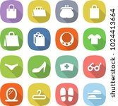 flat vector icon set   shopping ... | Shutterstock .eps vector #1024413664