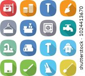 flat vector icon set   shop... | Shutterstock .eps vector #1024413670