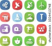 flat vector icon set   gear... | Shutterstock .eps vector #1024413748