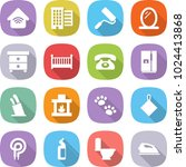 flat vector icon set   wireless ... | Shutterstock .eps vector #1024413868