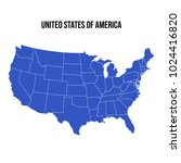 united states of america map... | Shutterstock .eps vector #1024416820