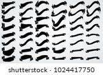 black vintage ribbon collection.... | Shutterstock .eps vector #1024417750