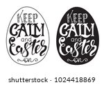 hand drawn easter quotes... | Shutterstock .eps vector #1024418869