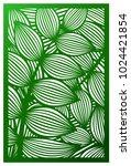 vector laser cut panel. pattern ...   Shutterstock .eps vector #1024421854