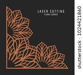 laser cutting corner. tapestry... | Shutterstock .eps vector #1024421860