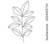 cute leafs decorative icon | Shutterstock .eps vector #1024423714