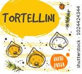tortellini pasta card concept... | Shutterstock .eps vector #1024424344