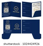 hotel key card holder folder... | Shutterstock .eps vector #1024424926
