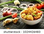 homemade roasted cauliflower... | Shutterstock . vector #1024426483
