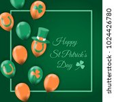 happy st patrick's day card... | Shutterstock .eps vector #1024426780