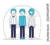 group of elegant men in the... | Shutterstock .eps vector #1024426939