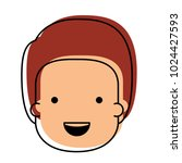 little boy head icon | Shutterstock .eps vector #1024427593