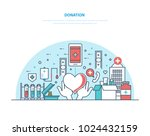 charity and donation. financial ... | Shutterstock .eps vector #1024432159