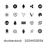 20 most popular cryptocurrency... | Shutterstock .eps vector #1024433056