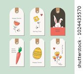 set of easter gift tags | Shutterstock .eps vector #1024435570