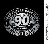 90 years anniversary....   Shutterstock .eps vector #1024436386