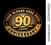 90 years anniversary....   Shutterstock .eps vector #1024436410