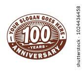 100 years anniversary.... | Shutterstock .eps vector #1024436458
