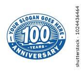 100 years anniversary.... | Shutterstock .eps vector #1024436464