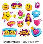 smiley face love and friends... | Shutterstock .eps vector #1024436494