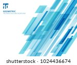 abstract technology diagonally... | Shutterstock .eps vector #1024436674
