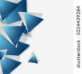 blue and grey triangles tech...   Shutterstock .eps vector #1024439284
