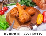 meat and sausages set of fresh... | Shutterstock . vector #1024439560