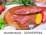 meat and sausages set of fresh... | Shutterstock . vector #1024439566